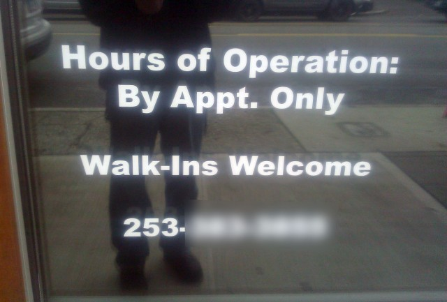 Walk-ins By Appointment