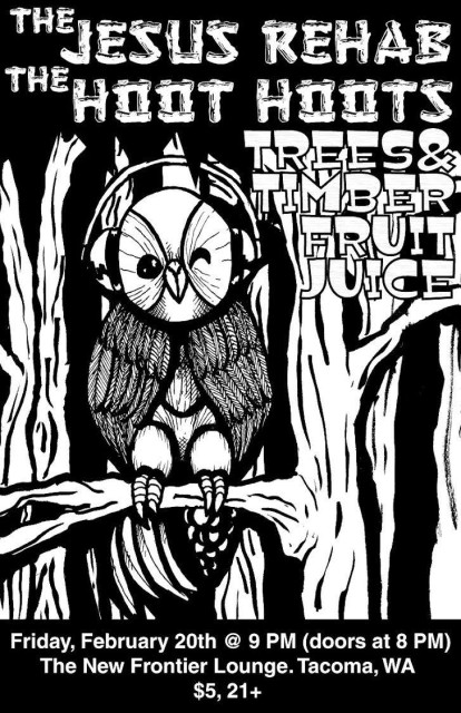 The Jesus Rehab & The Hoot Hoots at New Frontier Lounge